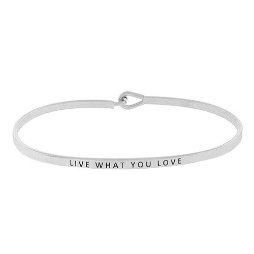 LIVE WHAT YOU LOVE Message Bracelet