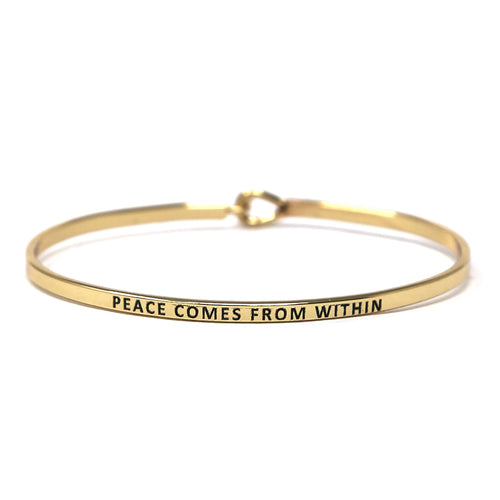 PEACE COMES FROM WITHIN Inspirational Message Bracelet