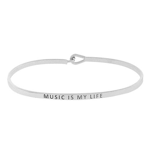 MUSIC IS MY LIFE Message Bracelet