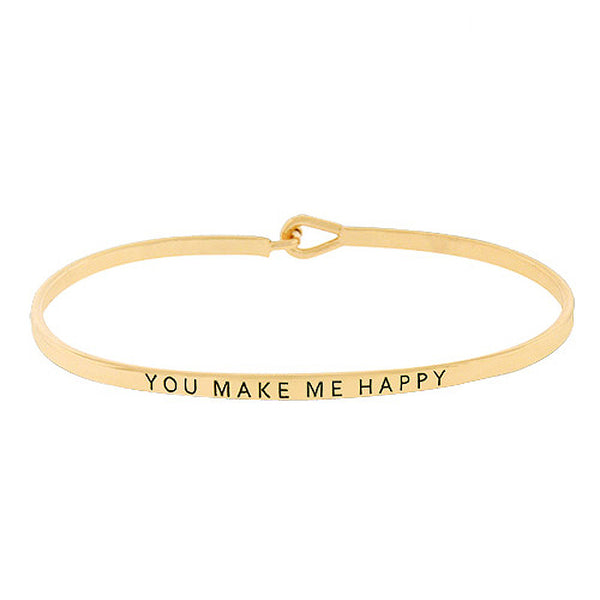 YOU MAKE ME HAPPY Message Bracelet