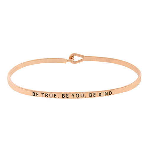BE TRUE, BE YOU, BE KIND Message Bracelet