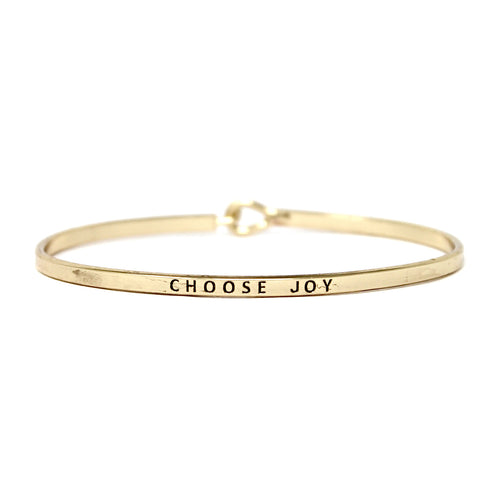 CHOOSE JOY Inspirational Message Bracelet