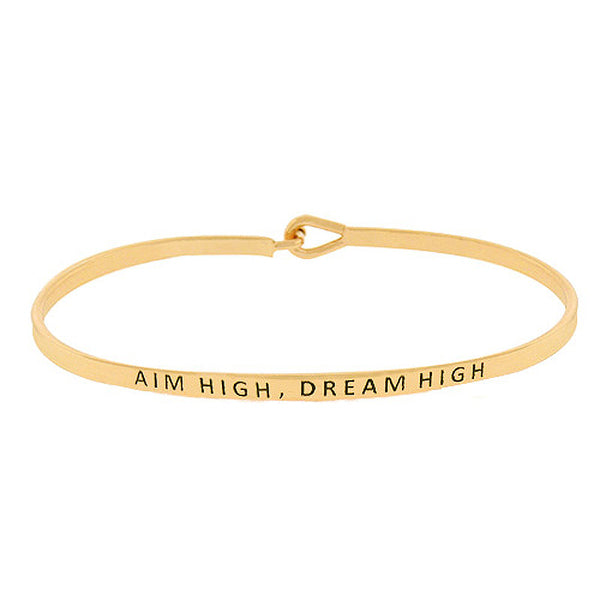 AIM HIGH, DREAM HIGH Message Bracelet