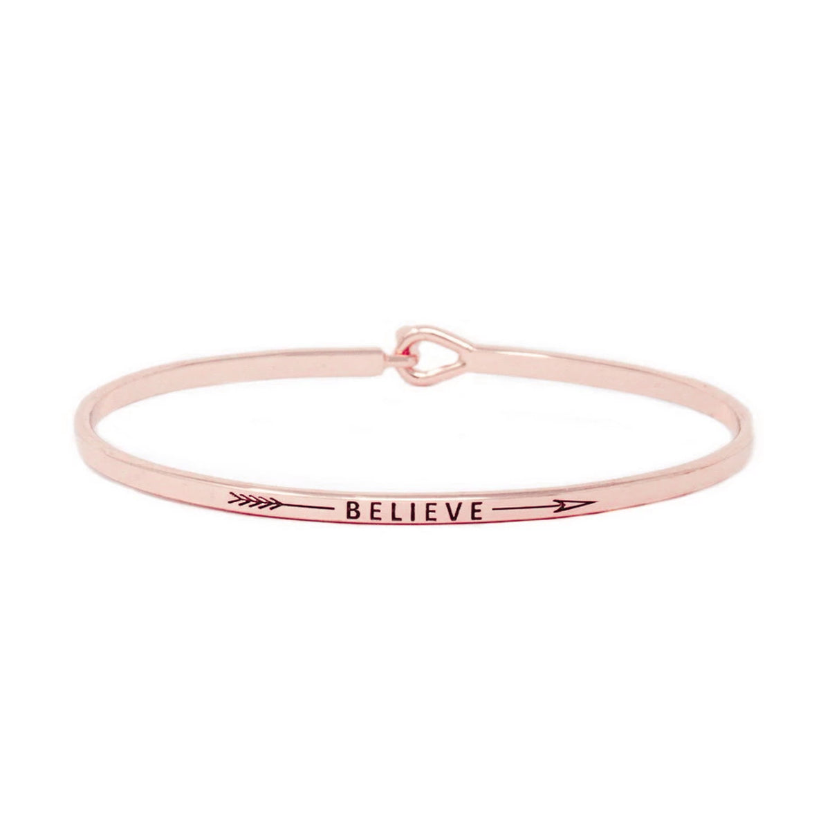 BELIEVE Inspirational Message Bracelet
