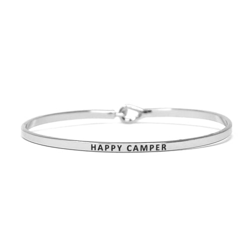 HAPPY CAMPER Inspirational Message Bracelet