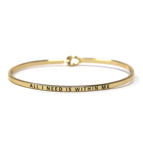 ALL I NEED IS WITHIN ME Inspirational Message Bracelet