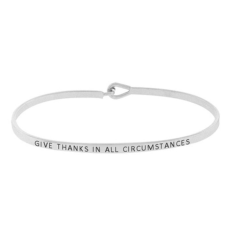 GIVE THANKS IN ALL CIRCUMSTANCES Message Bracelet