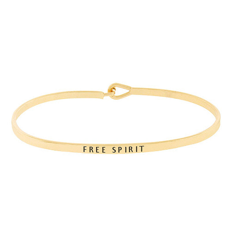 FREE SPIRIT Message Bracelet
