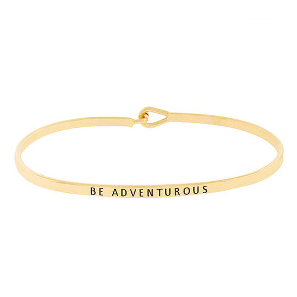 BE ADVENTUROUS Message Bracelet
