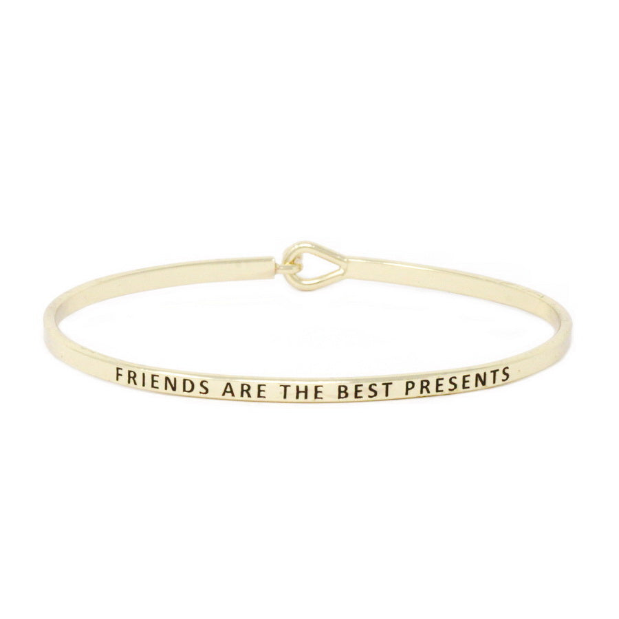 FRIENDS ARE THE BEST PRESENTS Inspirational Message Bracelet