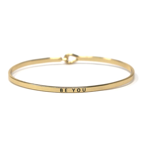 BE YOU Inspirational Message Bracelet