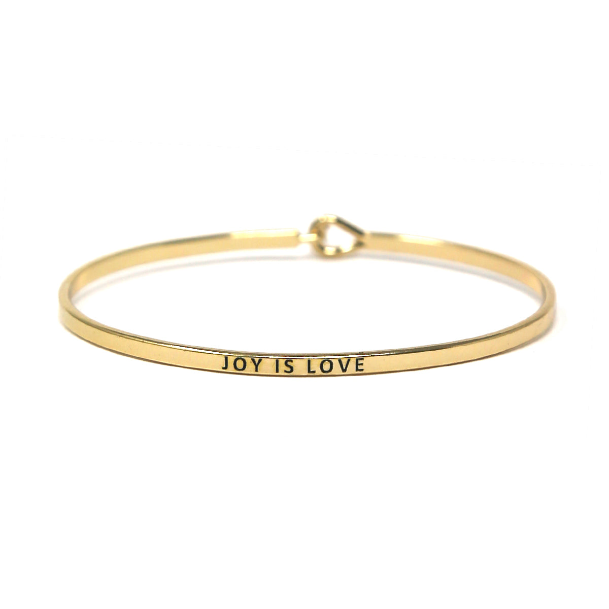 JOY IS LOVE Inspirational Message Bracelet