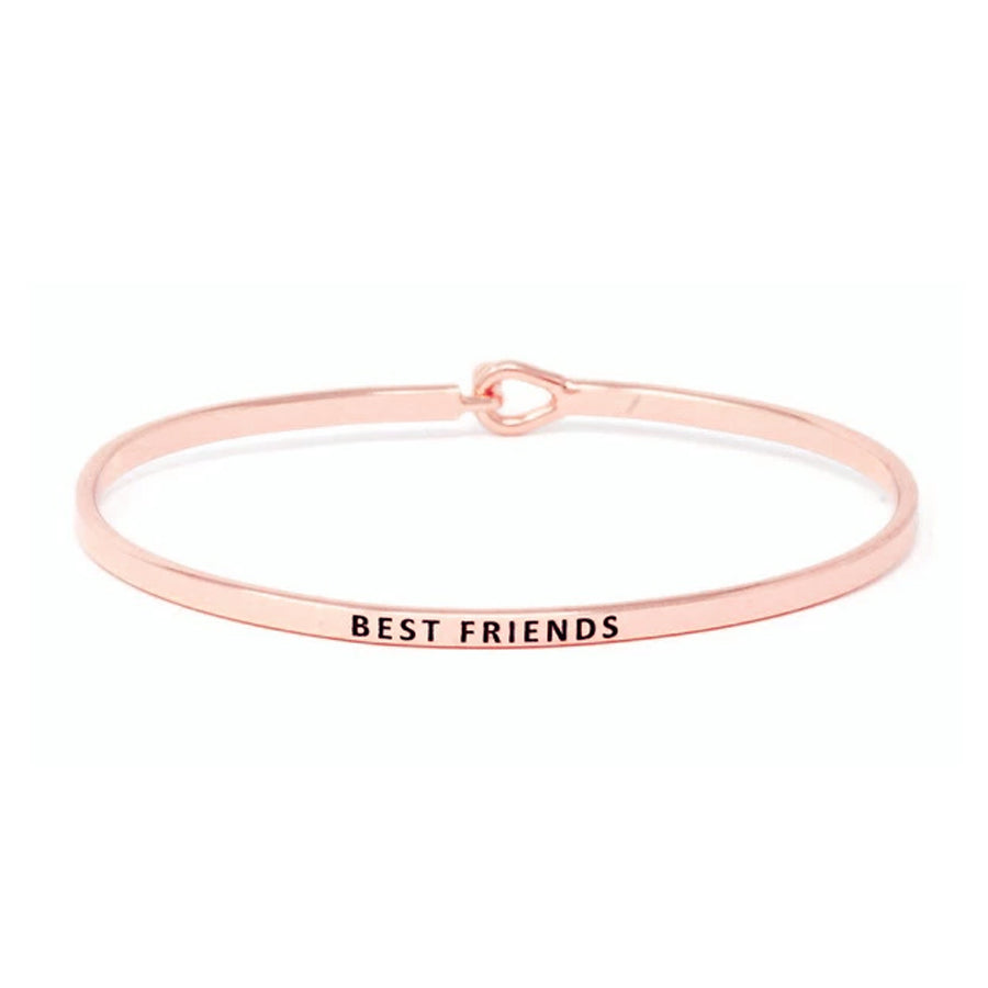 BEST FRIENDS Inspirational Message Bracelet