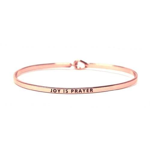 JOY IS PRAYER Inspirational Message Bracelet