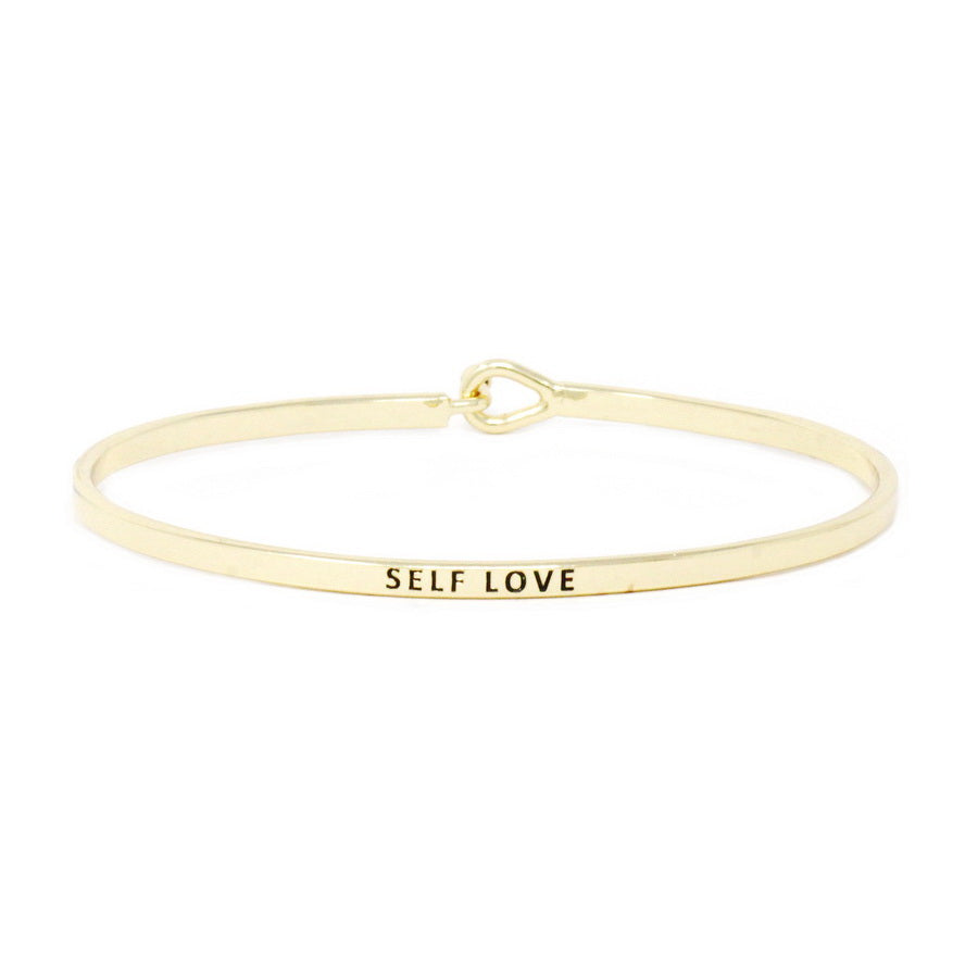 SELF LOVE Inspirational Message Bracelet
