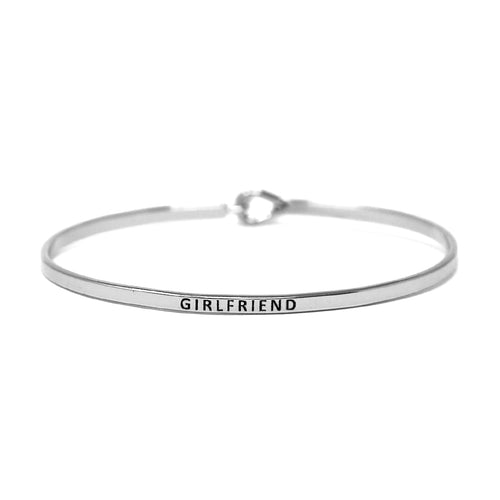 GIRLFRIEND Inspirational Message Bracelet