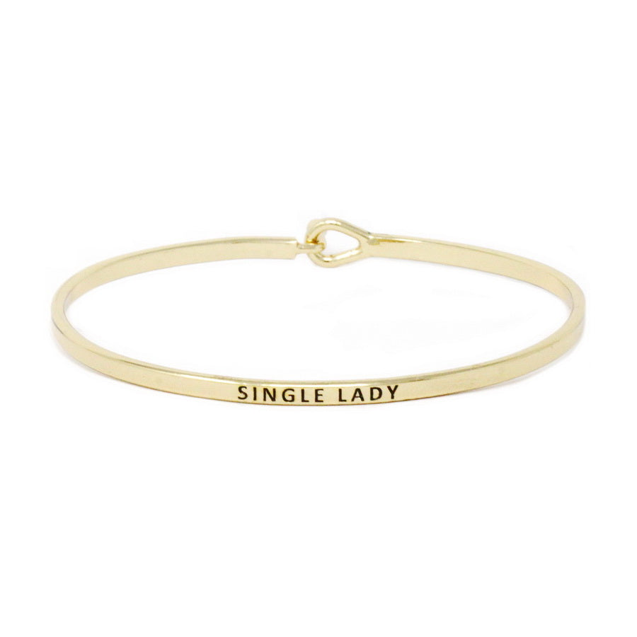 SINGLE LADY Inspirational Message Bracelet