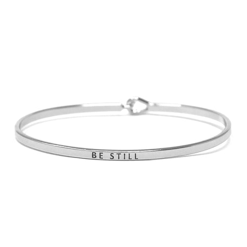 BE STILL Inspirational Message Bracelet