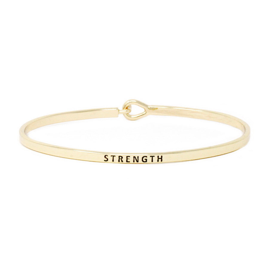 STRENGTH Inspirational Message Bracelet