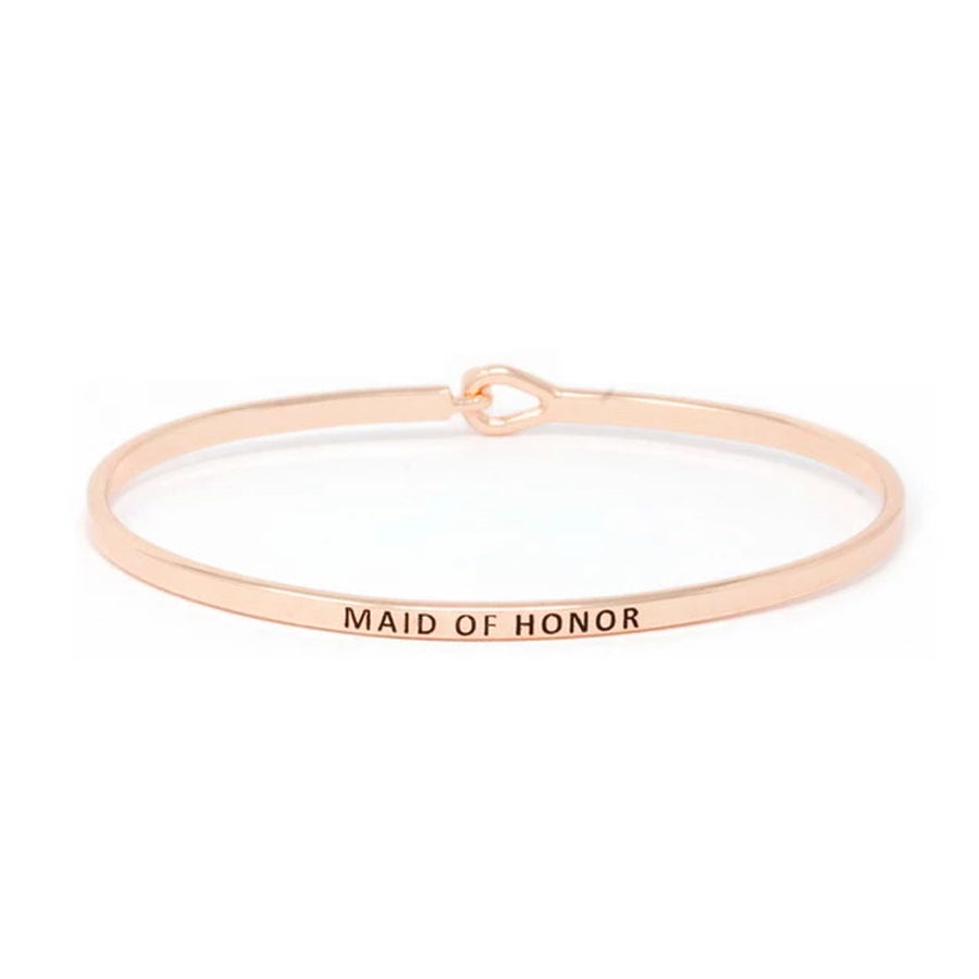 MAID OF HONOR Inspirational Message Bracelet