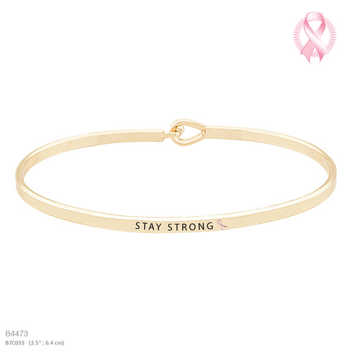 STAY STRONG -Message Bracelet