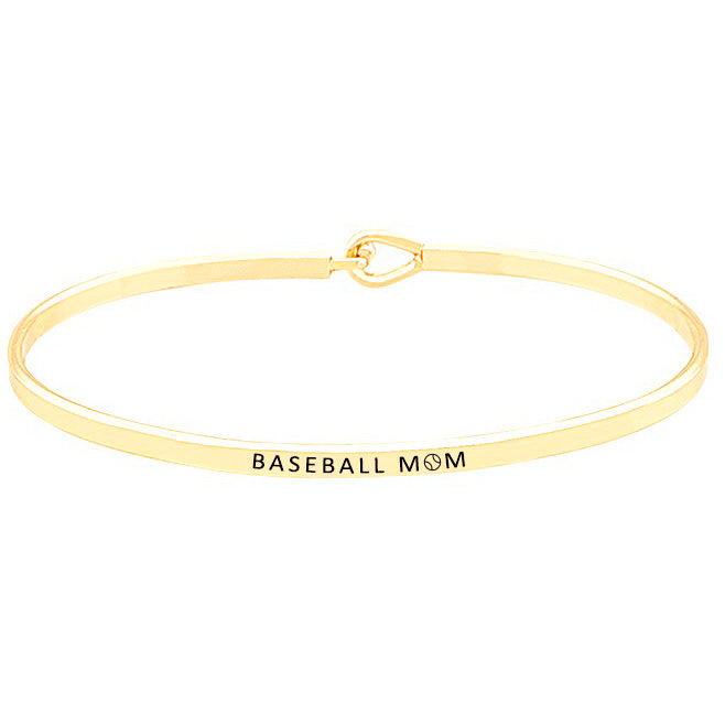 Baseball Mom - Message Bracelet