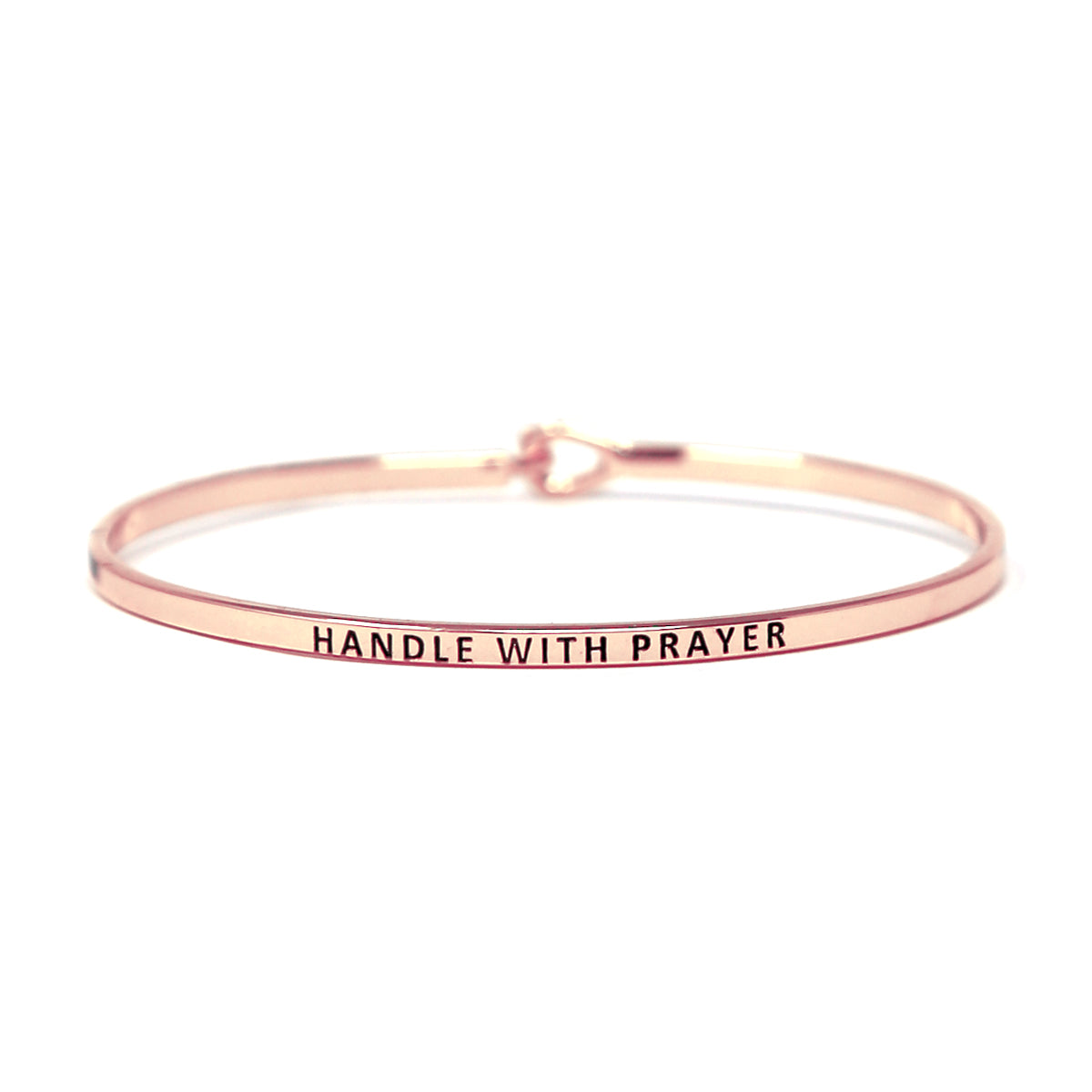 HANDLE WITH PRAYER Inspirational Message Bracelet