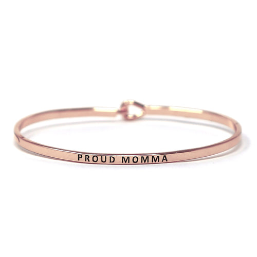 PROUD MOMMA Inspirational Message Bracelet
