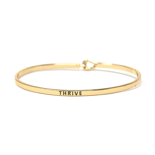 THRIVE Inspirational Message Bracelet