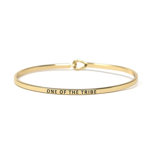 ONE OF THE TRIBE Inspirational Message Bracelet