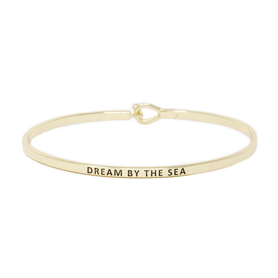DREAM BY THE SEA Inspirational Message Bracelet