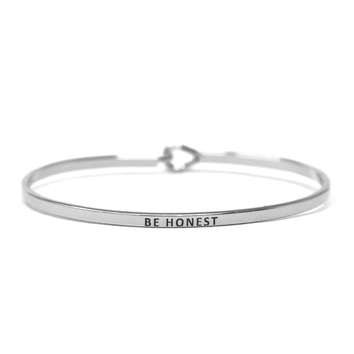 BE HONEST Inspirational Message Bracelet