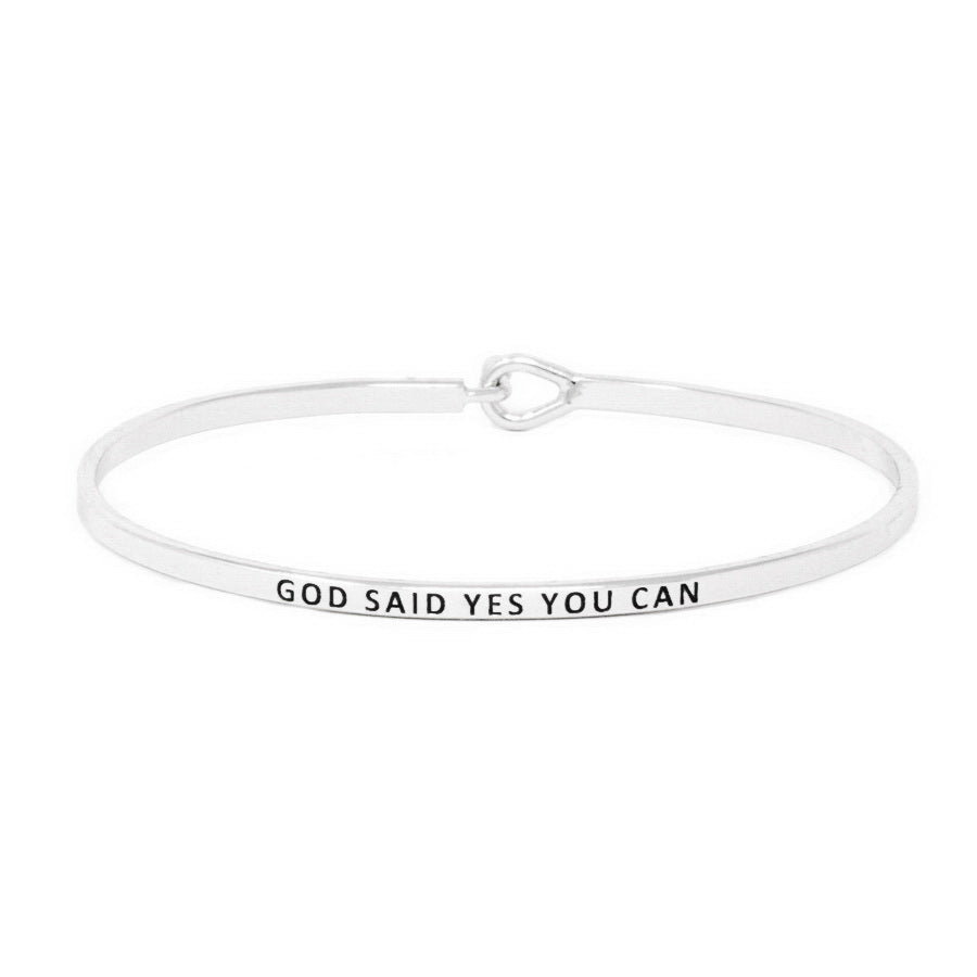 GOD SAID YES YOU CAN Inspirational Message Bracelet