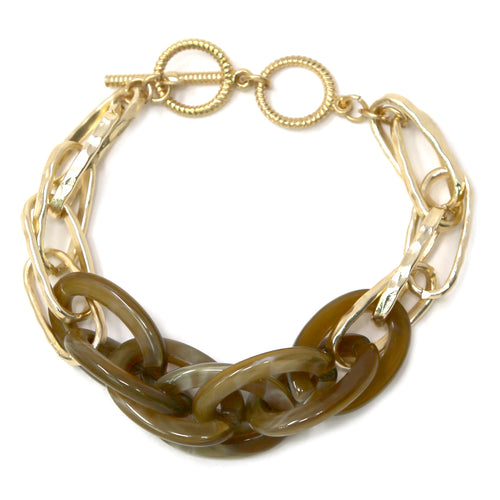 Acetate Chain Linked Bracelet