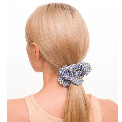 Gingham Print Hair Scrunchie