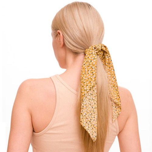 Floral Print Scrunchie With Detachable Scarf