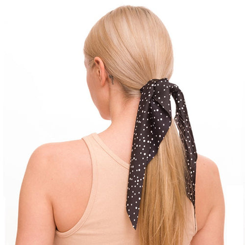 Polka Dot Scrunchie With Detachable Scarf