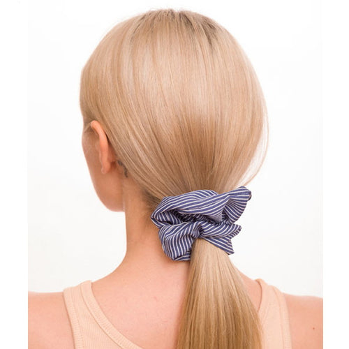 Stripe Print Scrunchie