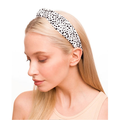 Speckled Print Front Knot Headband