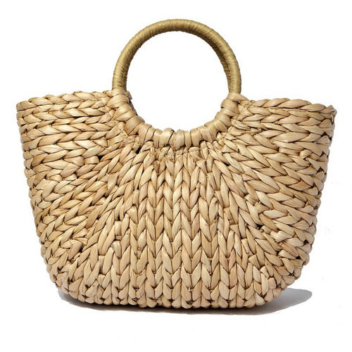 RESTOCKED Braided Woven Straw Handbag