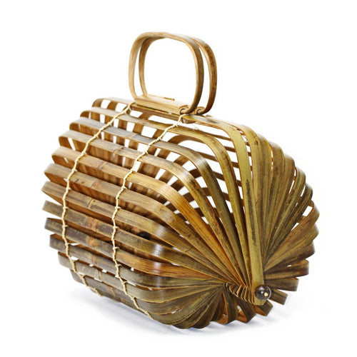 RESTOCKED Natural Bamboo Collapsible Handbag