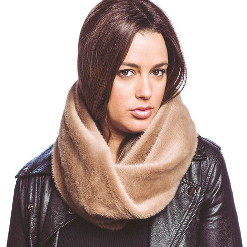 Faux Fur Twisted Neck Warmer Scarf