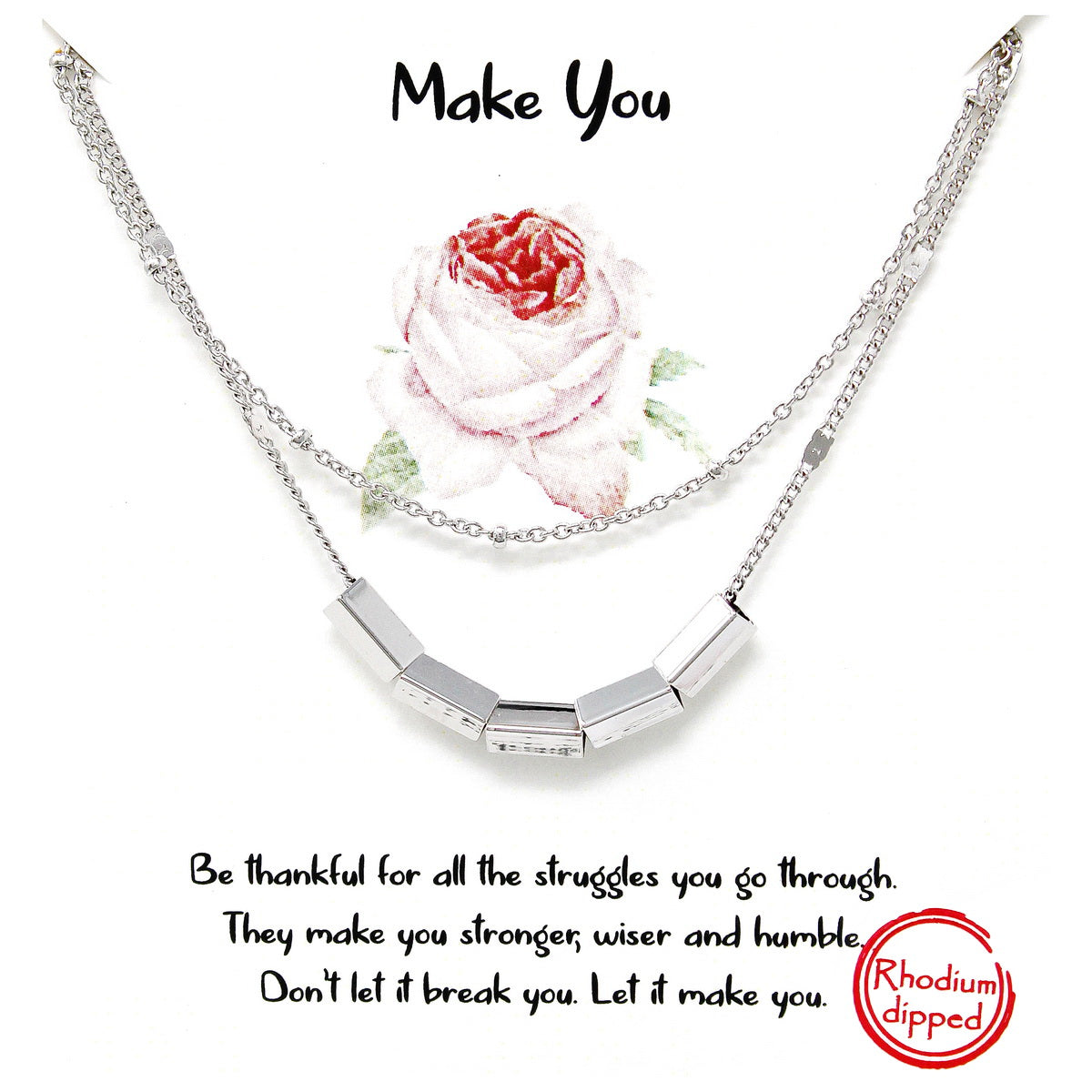 Tell Your Story: MAKE YOU Double Strand Short Necklace