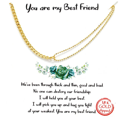 Tell Your Story: YOU ARE MY BEST FRIEND Simple Chain Necklace