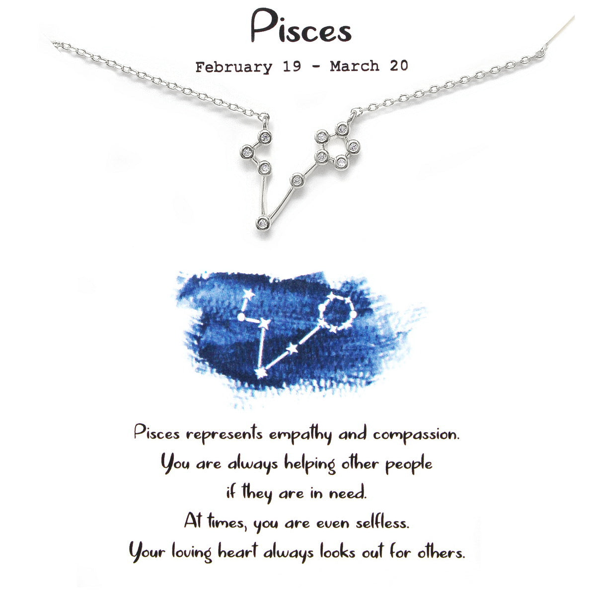 Tell Your Story: PISCES CZ Pave Zodiac Necklace
