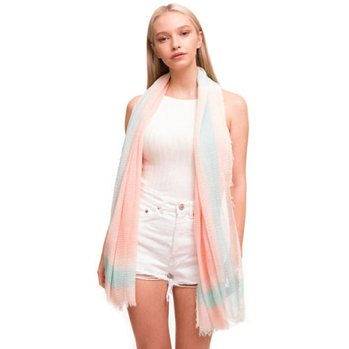 Watercolor Soft Oblong Scarf
