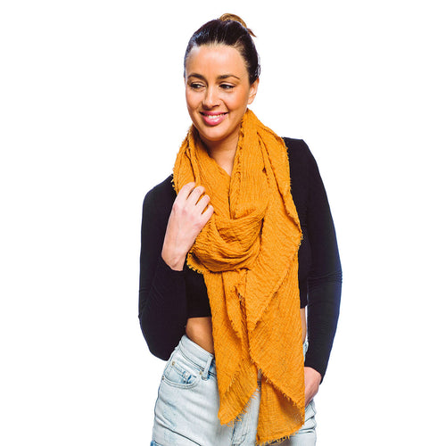 Soft Solid Color Oblong Scarf