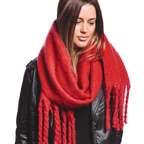 Soft Solid Color Fringe Scarf