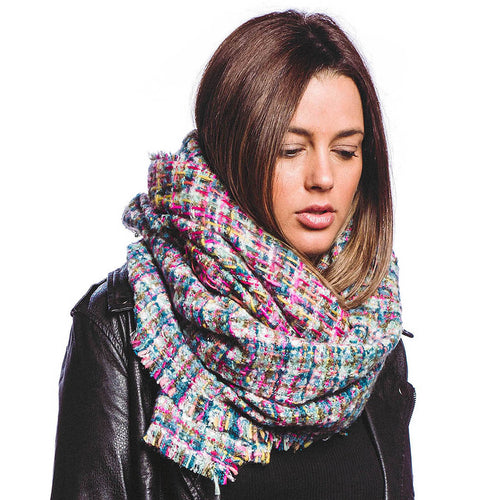 Mixed Color Oblong Scarf