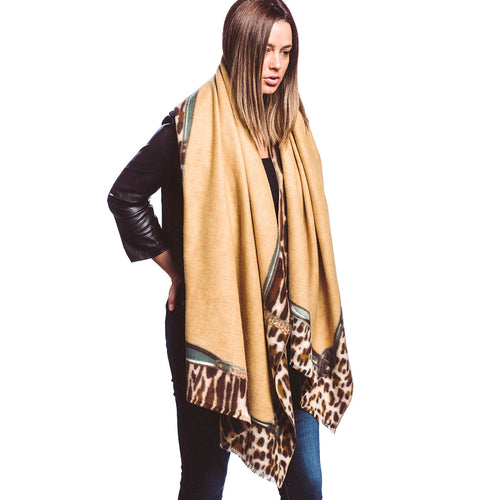 Animal Skin With Chain Print Oblong Scarf